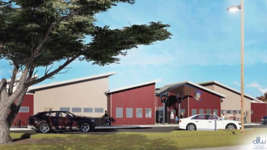 Artist rendering of Almond Acres Charter Academy