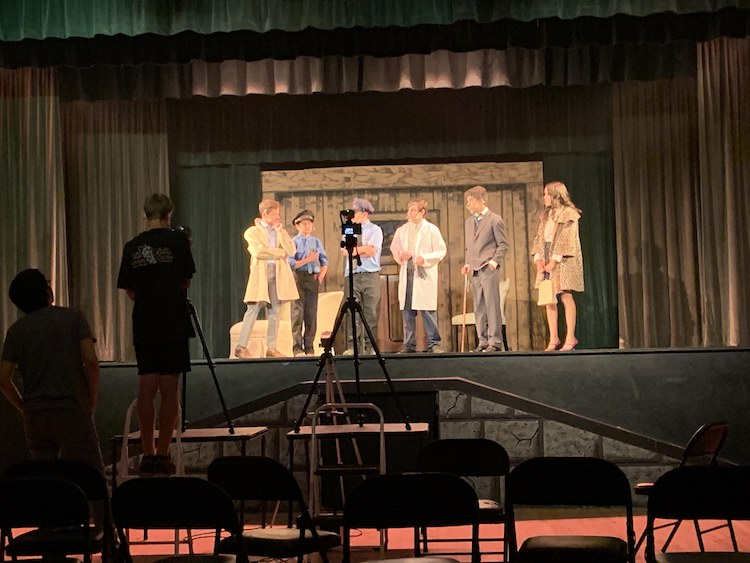 Almond Acres Charter Academy students onstage and in a movie with Paso Robles Youth Arts Center