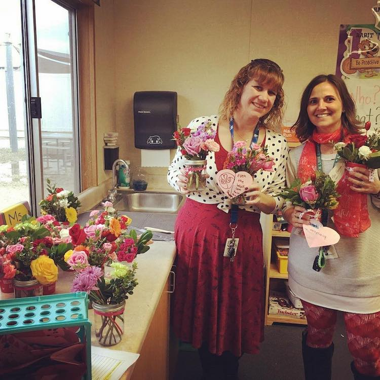 Almond Acres Charter Academy and Valentine's Day flower sales